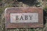 Aborted babies aren't even given a headstone! They are just incinerated.