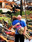 girl and man tornado