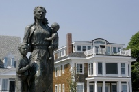 Gloucester, Mass. Fisherman's Wives Memorial Looks Out to Sea
