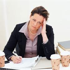 women tired at work