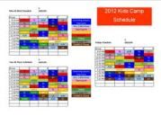 And this is just a camp schedule! Looks like fun?