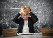stressed women teacher