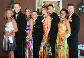 boys and girls prom photo