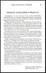 McGuffey Reader Preface - Education Through Faith.