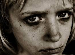 sad neglected girl