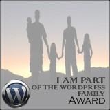 * I am Part of the WordPress FamilyAward