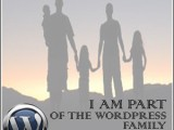 * I am Part of the WordPress Family Award