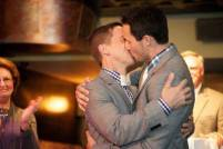 gay men marriage kissing