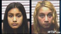 Thugs - Guadalupe Shaw, 14, left and Katelyn Roman, 12, right