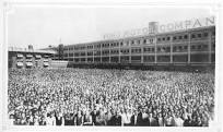 Thousands of Ford factory workers in Detroit