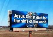 One of Harold Scott's Christian Billboards
