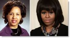 Toni Townes-Whitley, 49 and Michelle Obama, 49
