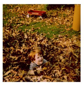 Playing in the pile of leaves
