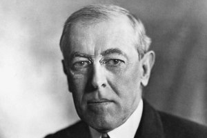 28th President of the United States Woodrow Wilson (1856-1923)