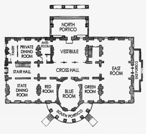 White House First Floor Plan