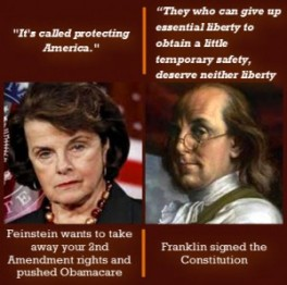 Dianne Feinstein and Ben Franklin