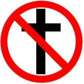 Anti-Christian logo