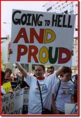 Anti-Christian poster