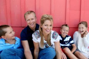 Candice and Valeri Bure and their Children