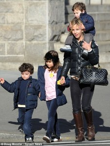 Elisabeth Hasselbeck, 37 -  TV Talk Show Hostess with her 3 Children - Elisabeth, 9 Taylor, 6 and Isaiah, 4