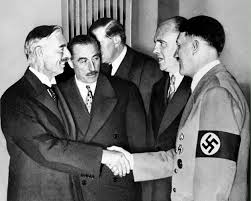 British Prime Minister Neville Chanberlain and Hilter