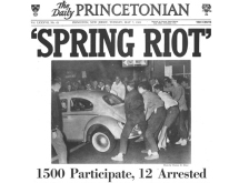 The front page of the The Daily Princetonian