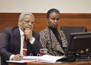Sheila Kearns and her lawyer, Geoffrey Oglesby